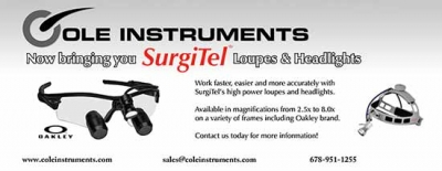 Cole Instruments is proud to offer SurgiTel Loupes and Headlights